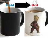 Guardians of the Galaxy Baby Groot Color Changing Ceramic Coffee Mug CUP 11oz #2