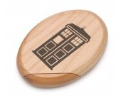 Doctor Who Tardis Wooden Pocket Mirror