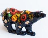 Ceramic Bear  Flower print Handmade Home decor