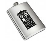 Doctor Who Tardis Liquor Stainless Steel Flask - 8 oz