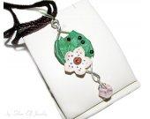 Daughter of the forest pendant, dryad pendant, elven pendant, Swarovski crystals, elf costume, green pendant, Wood Elf, flower pendant