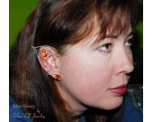 Silver Honey Elf Ears, elven ears, elf costume, elf ear cuff, elf ear wrap, cosplay, elvish jewelry, no piercing earrings, Elven Wedding