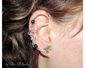 Nature ear cuff, leaf ear cuff, elegant ear cuff, dryad, Elf Earrings, elvish jewelry, wire ear cuff, elf ear cuff, no piercing earrings