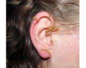 Belle ear cuff, Belle earring, Beauty and the Beast, Fantasy Earrings, wire ear cuff, leaf ear cuff, Cosplay jewelry
