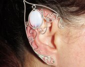 Lady of Light elf ears, elf costume, Elven Wedding, elven ears, elven ear cuff, elven ear wrap, cosplay jewel