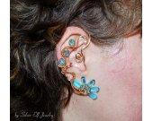 Golden reflections ear cuff, water ear cuff, no piercing earrings, Elemental jewelry