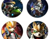Starfox Set Of 4 Wood Drink Coasters