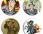 Inspector Gadget Of 4 Wood Drink Coasters