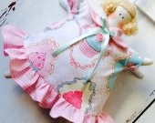 Tilda Cake Angel Tilda doll Rag Doll Cloth doll Soft toy Fabric Stuffed Doll Baby Gift for Baby Girl Toy Kitchen decor