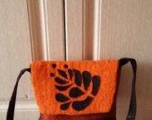 Shoulder orange bag