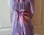 Purple chiffon scarf