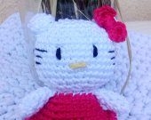 Hello Kitty keychain amigurumi and bag charm, crochet toy, Amigurumi cat