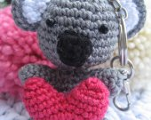 Koala bear amigurumi keychain Koala keychain Amigurumi koala Koala Charm
