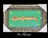 morocco nice green mural decor yellow copper knife art new poster home decor