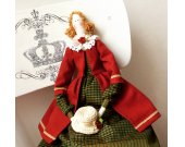 Tilda Mademoiselle Paulette Doll Gift for Girl-friend Cloth doll Soft toy Rag doll Handmade doll Fabric doll Home decor