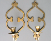 Brass Candlestick Holders  Wallmounted