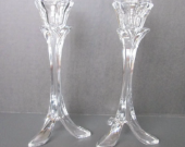Crystal Footed Candle Holders  Cristal D™Arques Made in France