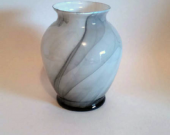 Black Marbleized Glass Vase