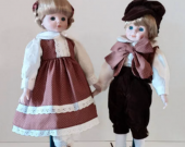 Marian Yu Porcelain Dolls  Set of Twins!!