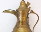 Brass and Copper Coffee Decanter (Arabic Dallah)