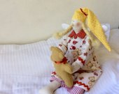 Tilda Sleeping angel doll Tilda angel Rag Doll Handmade doll Soft toy Fabric Stuffed Doll New baby Gift Toy Kids