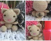 Kitty keychain amigurumi, kitty charm ,Tiny kitty,Kitty,Amigurumi,