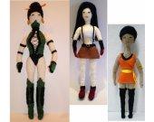 Hamdmade OOAK Action Figures: Jade Jade,Tifa Lockhart & Uhura crocheted
