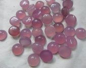 AA GRADE--50pcs 6-16mm chalcedony ROUND cabochon gemstone pink violet purple  green olive agate chalcedony beads chalcedony jewelry