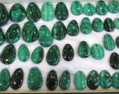 AA grade--6pcs 20-60mm Gemstone Malachite  Rock Sphere GreenMalachite  Gem Stone freeform drop teardrop Donut pendant focal