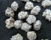 24pcs 15-22mm  genuine Raw Pyrite Crystal Nuggets,Freeform  Iron Chunky Gold  Pyrite Beads,chip pyrite cabochos