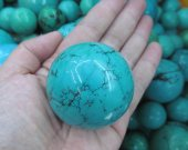 high quality Gemstone turquoise stone Rock Sphere  blue Ball Green turquoise  Gem Stone Ball for Crystal Cabochon Rock 20-50mm