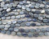 Blue KYANITE Gemstone. Semi Precious Gemstone Bead. oval egg olive Smooth Blue Kyanite Gemstone 8-20mm full strand
