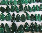 AA grade-- Gemstone Malachite  Rock Sphere GreenMalachite  Gem Stone freeform drop teardrop Donut pendant focal 6pcs 20-60mm