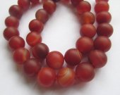 high quality Carnerial  Orange red  Agate Gemstone Striped  Matte Agate Beads Round 4\6\8\10\12mm gemstone Red Onyx loose beaded