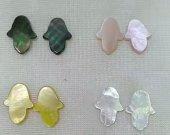 24pcs MOP Shell Cabochons hamsan hand 12-20mm yellow balck pink  black white  shell Beads shell jewelry