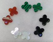 24pcs Clove MOP Shell Cabochons cross bear heart rectangle  flower  8-12mm animals white  shell Beads shell jewelry