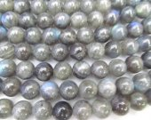 dark Labradorite Beads Flashy Smooth  Round  Ball lite grey Labradorite Jewelry 4-12mm 16inch