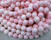 Wholesale 14mm full strand Shell jewelry Pink Round Ball  shell  Beads  for make shell necklace