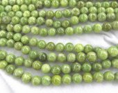 wholeasel 16inch Natural Chrysoprase Round  Balls Beads 4-16mm  - Chrysoprase Beads Olive peridote green  gemstone necklace