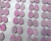 10-20mm 20pcs  Geuniune Druzy Drusy Crystal Quartz  Beads  teardrop drop peach  Cabochon Assorted Jewelry Beads fuchsia red