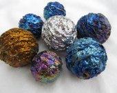 2pcs 35-50mm Dragon Stone Pyrite Rock Quartz Crystal Sphere - Hand Carved Gem Stone Ball for Crystal Cabochon Rock