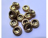 100pcs 10mm  matte gold 18K wheel heishi  white Silver Gunmetal Gold Jewelry Spacer Jewelry beads high quality