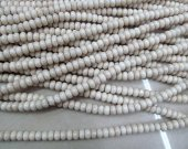 Wholesale 5strands 5x8mm Natural Fossil Beads - Round rondelle abacus   Semi Precious Gemstone Beads  Ivory White Jewelry Beads