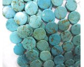 2strands 8-20mm Turquoise Gemstone  High Quality round roundel Disc Coin white  blue green Turquoise Beads