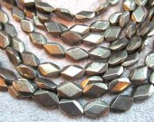 Wholesale 2strands 6-16mm  Natural Pyrite Beads Barrel Rice Diamond Faceted Gold  Iron Pyrite Stone