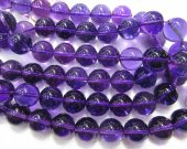AA+ Grade   4-14mm Amethyst  Black Crystal Quqartz Beads Rock Crystal  Royla Blue Quartz  Round Ball smooth Crystal Jewelry