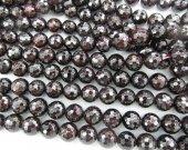 2strands 3-8mm  Garnet Gemstone  Beads Round Ball Rhodlite Crimson Red Faceted  Garnet Necklace