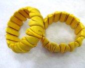 Yellow Turquoise Gemstone   turqouise bracelet triangle evil turquoise beads 8inch