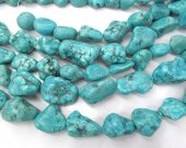 Large Turquoise Gemstone Green  Chips Nuggets FreeForm  Turquoise Beads 20-40mm full strand 16inch