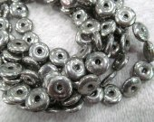 Hanmade 16inch 8-16mm Natural Pyrite gemstone  Round Circle Donut  Gold  Iron Pyrite Crystal Pyrite Spacer beads